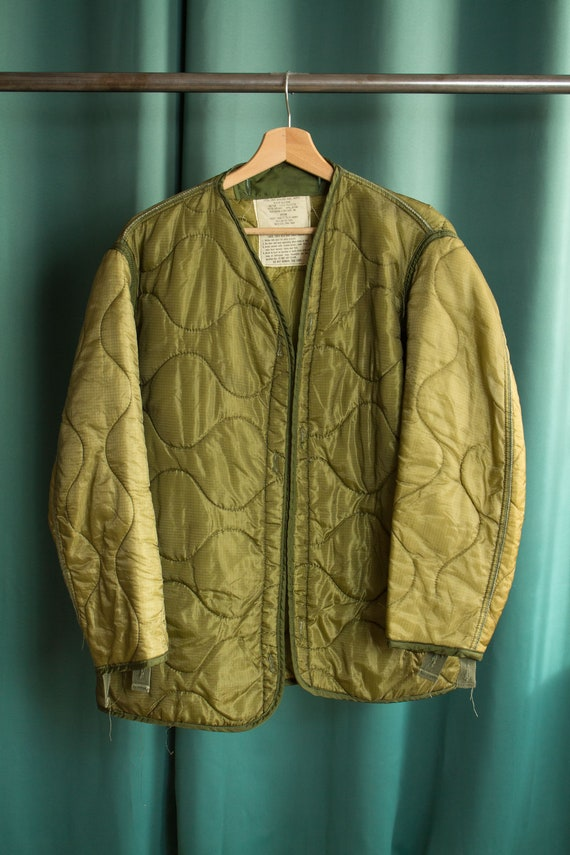 Vintage quilted short jacket / U.S. Army Military