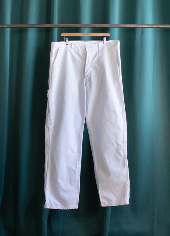 White work pants / Vintage workwear / White chino