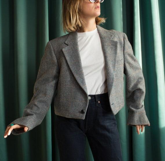 Vintage short blazer jacket | Cropped blazer | Vin