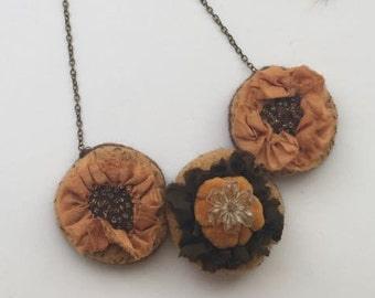 Handmade Recycled Vintage Necklace