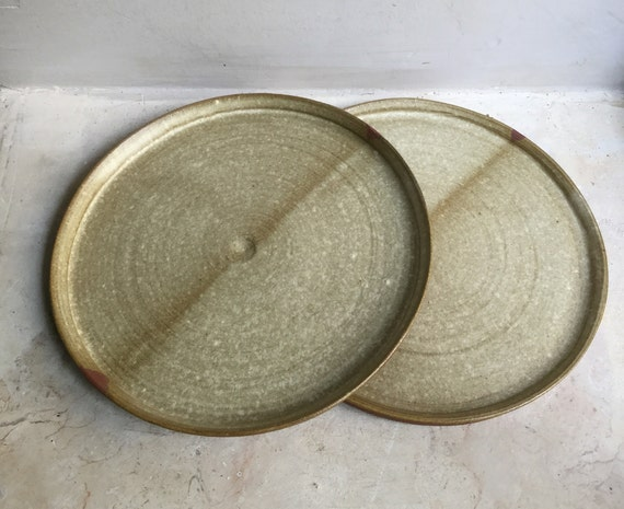Small Cheese Platter Ceramic Cake Plate Personal Snack Plate Snack Dish BlueGray Plate Small Ceramic Plate