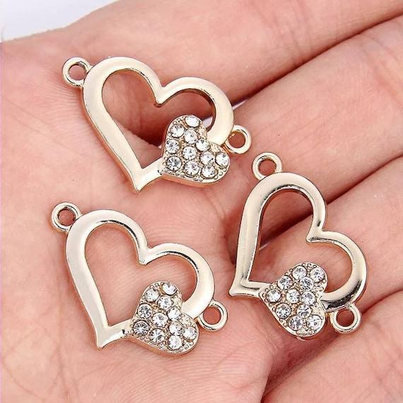 Mix Lots Acrylic Love Heart Shaped Bead DIY Beading Necklace Bracet Embelishment