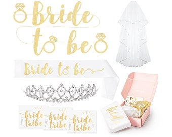 Bachelorette Party Decorations Kit | Bridal Shower Decorations | Bachelorette Party Favors | Bachelorette Sash | Bridal Veil | Hen Party