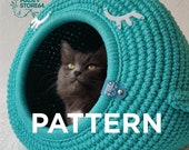 Pattern Crochet cat bed PDF tutorial with photo and pattern Crochet pattern DIY Crochet tutorial CORD Paracord basket
