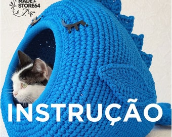 14 Free Crochet Cat Bed Patterns - Its Overflowing | 270x340