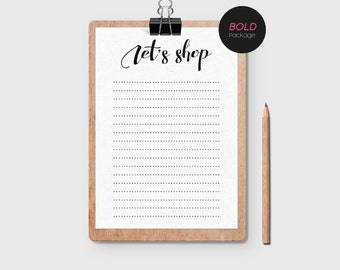 Simple + Feminine Shopping List (Bold Package)