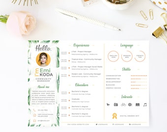 tropical curriculum vitae template resume cv cover letter creative design for photoshop