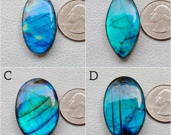 Amazing Blue fire Labradorite Gemstone Cabochon Top Quality Labradorite Gemstone Oval Shape gemstone 81.2 Cts Size 43x31x6.5 B#6