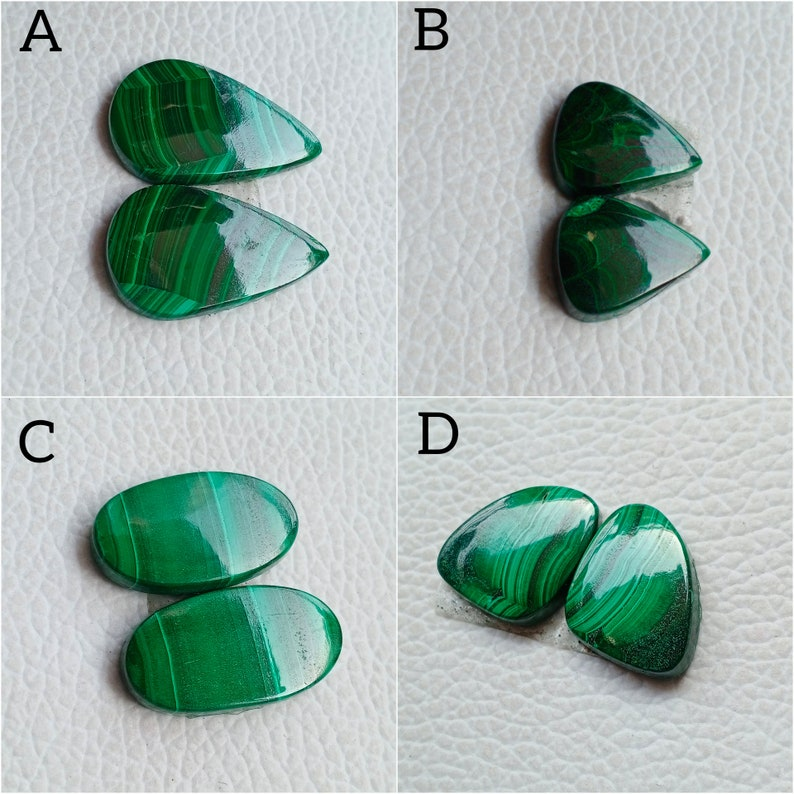 Malachite Jewelry, Malachite Gemstone Malachite AAA Malachite Malachite Pair Malachite Cabochon Natural Malachite