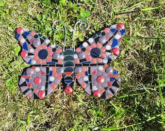 Garden Decoration, Handmade Butterfly Mosaic For Your Garden, Unique  Butterfly Mosaic
