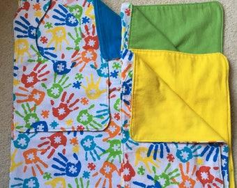 Autism Awareness Baby Bib and Burp Cloth Sets