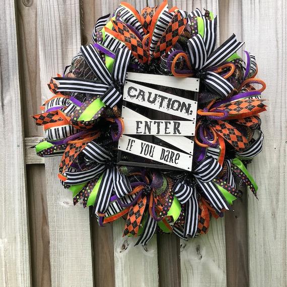 Halloween Wreath Halloween Wreaths Halloween Decor Etsy