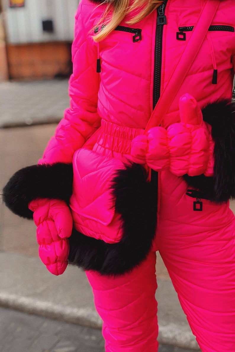Ski Suit Winter for Woman Outwear Sport Outfit Warm Skisuit Overall Jumpsuit One Piece women ski suit Jumpsuit suit pink outfit for skiing