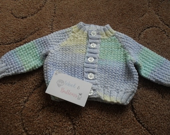 Handmade Knitted Baby Cardigan 0-3 months