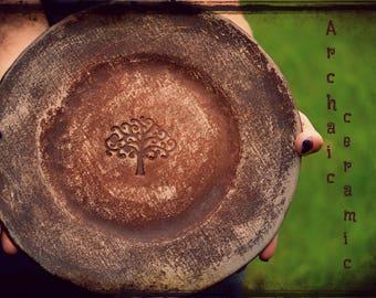 Rustikale Platte Rustikale Kuchen Platte Bio Teller Primitive Kuchen Platte  Steinzeug Kuchen Platte Baum Des Lebens Rustikale Geschirr Geschenk Für  Ihre ...