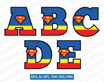 Superhero letters | Etsy