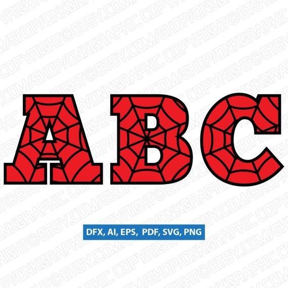 Spiderweb Spiderman Letters Alphabet Birthday Party SVG ...