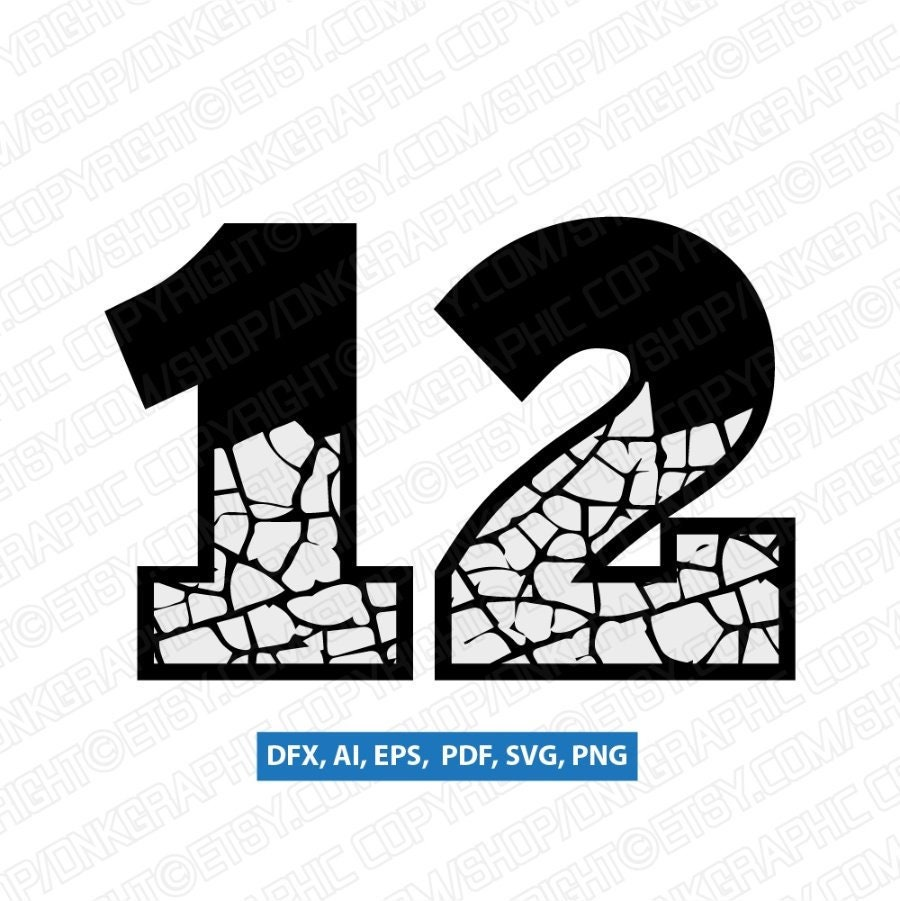 Crack Drought Cracked Numbers Printable SVG Vector Cricut Cut File Clipart  Png Eps Dxf