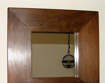 Walnut Mirror by Torgoyle Art Ology