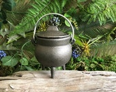 3.5 Cast Iron Cauldron - Potions, Spells, Witchy, Altar, Incense, Wiccan, Wicca, Pagan, Witchcraft, Candle, Planter