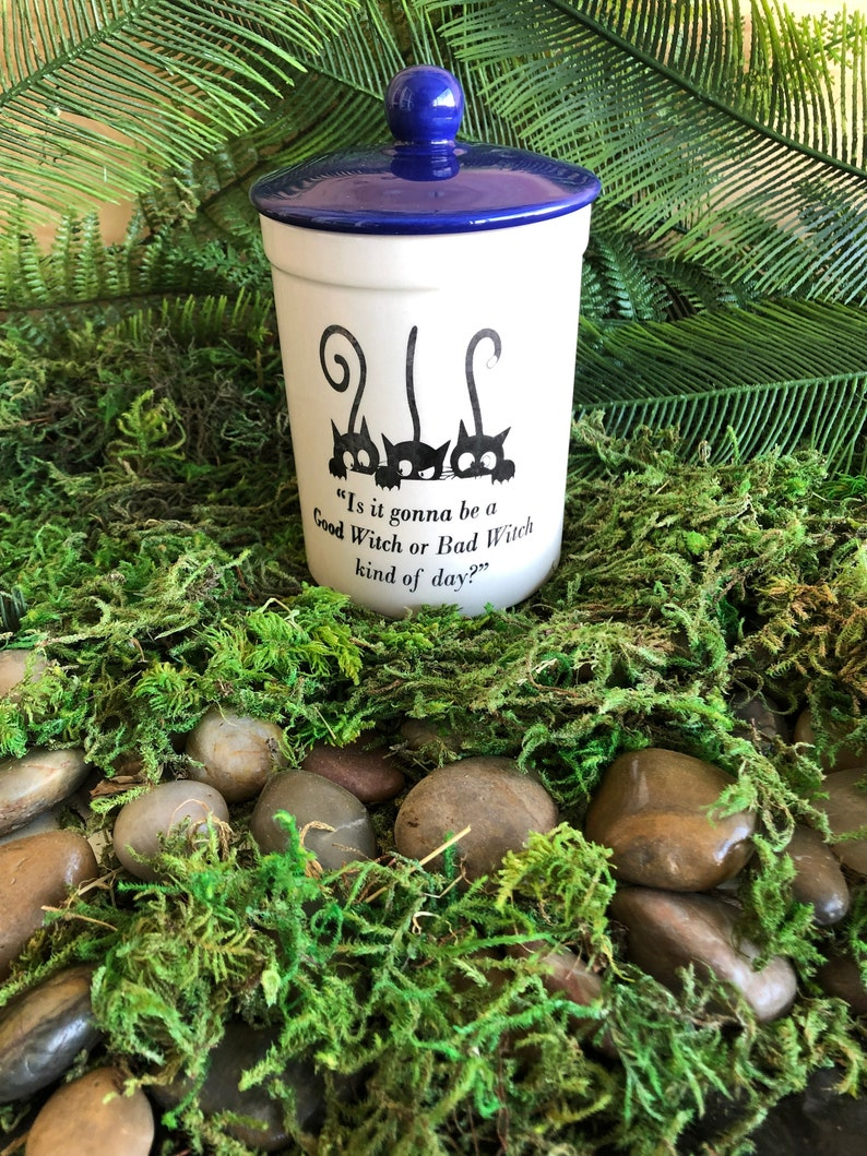 Good Witch or Bad Witch Stash Jar with Air-tight seal, Tea, Candle,  Incense, Witchy Gift, Wicca, Wiccan, Pagan, Magick, Goddess, Moon Magick