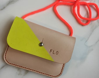 ffcd10121355 Childrens purse - neck wallet - neck purse - Personalised purse - coin purse  - leather purse - leather pouch - small leather purse -