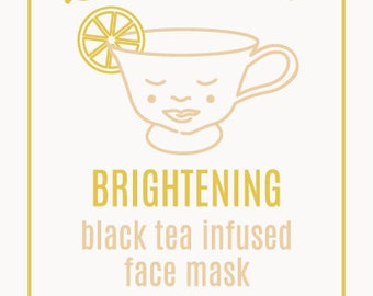 Black Tea Infused Organic Clay Facial Mask For Youthful Skin