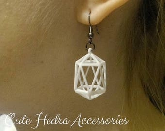 3D printed Polyhedra Earrings