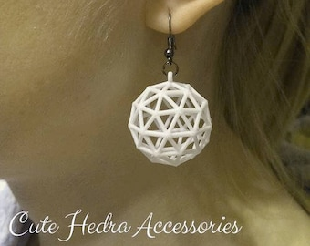 3D printed Icosphere Earrings