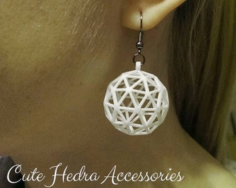 3D printed Icosphere RE Earrings