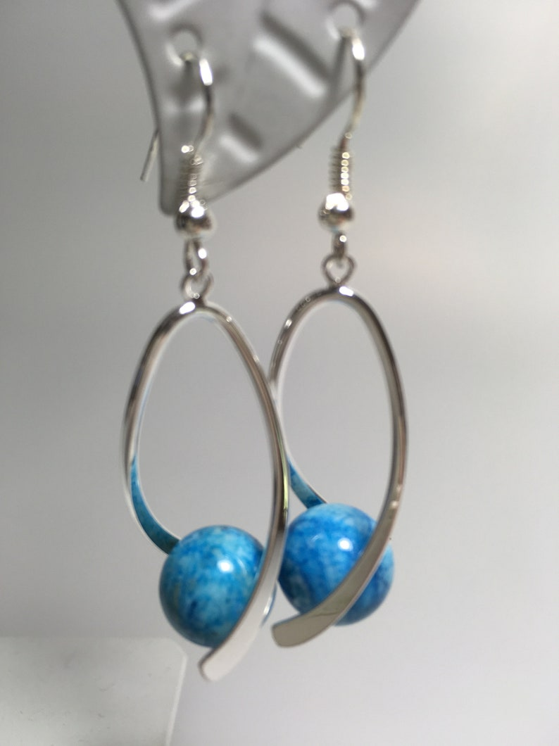 Earrings with Crazy Lace Agate