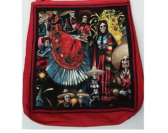 Day of Dead Grocery Tote  Bag