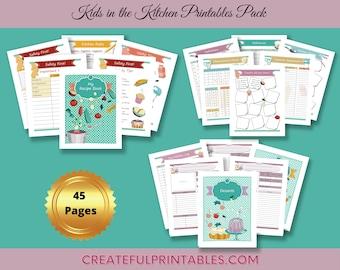 Printable Recipe Book| Cookbook Template | Kids Kitchen Fun