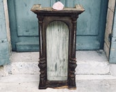 Antique display cabinet - fabulous antique French glazed cupboard - display cabinet - vitrine - clock case - original glass