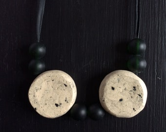 Ceramic and glass necklace