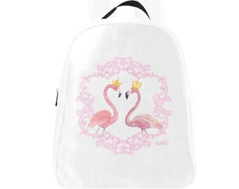 3413dd54cde Nahli Royal Flamingo's rugzak boek tas boekentas rugzak Flamingo Flamingo's  roze vogel kroon terug naar School kantoorbenodigdheden