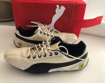 7fc85449cceb Puma Ferrari Supersqualo Lo Sneakers. Ivory. Women US 8. UK 5.5 EU 38.5  Sneakers. Shoes. Leather. Rare. Women. Womens.
