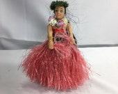 Vintage Hula Girl, Dashboard Hula Girl, Bobble Hip Hula Girl, Pink Hawaiian Hula Girl, Aloha Hawaii