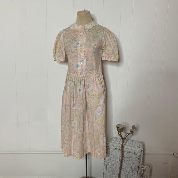 Dress Prairie Vintage LAURA ASHLEY 80s 90s Cottage
