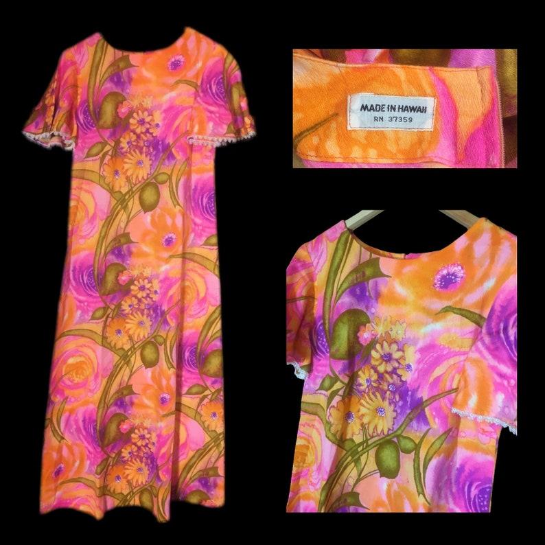 9742b0bf Vintage Hawaiian Dress Maxi Dress Hawaii Vacation Dress | Etsy