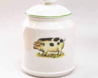 Pig Canisters Etsy