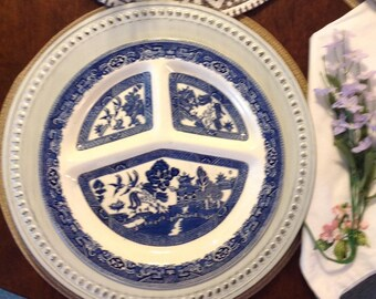 Vintage Romarco Plate, Blue Willow
