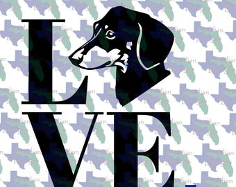 Loving the Furbabies SVG and PNG, Dachsund, Weenie Dog