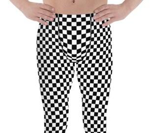 e57b2b2472df0 Men's Leggings - Checker Checked Check Checkered