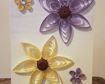 Handmade Quilled Mother's Day Card with Flowers