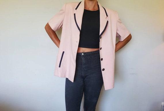 Vintage Oversized Pink Blazer - Size xL Pink Blaze