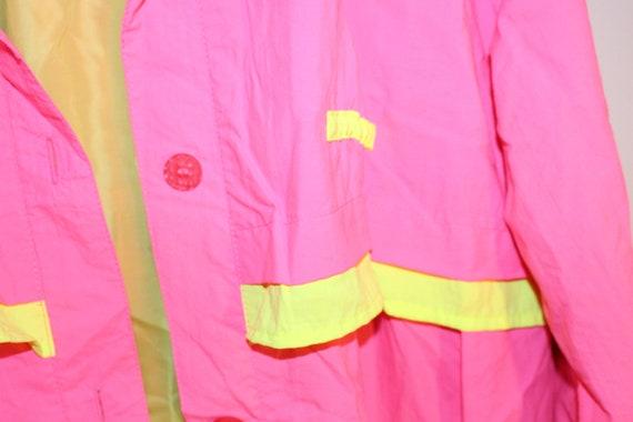 Vintage Neon Pink Trench Coat - Vintage Neon Tren… - image 5