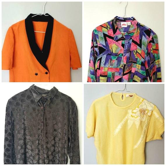 Vintage Lot 4 blouses size large {PERFECT CONDITIO