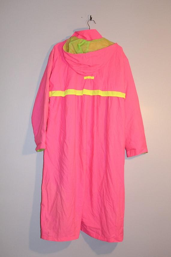 Vintage Neon Pink Trench Coat - Vintage Neon Tren… - image 9