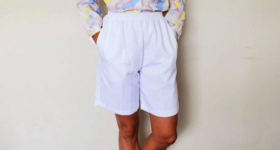 White bermuda shorts high waist vintage shorts siz